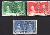 Hong Kong 1937 Coronation Set Used Stamps   (8314)