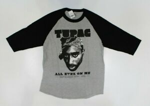2PAC Tupac All Eyez On Me Official Gray Raglan Shirt New! (4F5