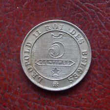 Belgium 1900 copper-nickel 5 centimes