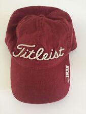 Titleist Strapback Dad Hat Adjustable Red Cap Golf 1935 EUC