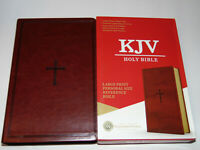 KJV Holy Bible, Large Print, Brown Leather-Touch Cover, King James Version