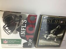 Lot of 2 NFL Football Book Greatest Photography Joe Namath Top 100 James Buckley