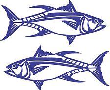 Yellowfin Tuna Stickers 2 x 580 x 245 marine grade Avery material