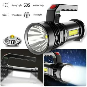 Waterproof Super Bright LED Searchlight Portable Rechargeable Handheld Spotlight