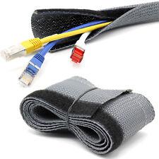 1m Flex Kabelschutz Kabelschlauch Klettverschluss grau Gewebeschlauch [Ø20mm]