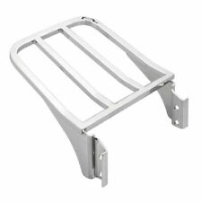 Motorcycle Chrome Sissy Bar Backrest Luggage Rack For Harley Dyna Softail FXDB
