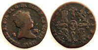 Spain-Isabel II. 2 Maravedis. 1847. Segovia. Cobre 2,1 g.