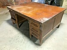 5' x 4' Wood Double Side Partner Desk Office Share Secretary Dove Tail Can Ship