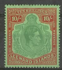 Leeward Is GVI 1938 10/- SG 113 Mint Hinged cat 200 gbp