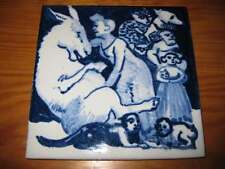 PORTUGAL PORTUGUESE PAULA REGO 1990s GIRL & DUMB CERAMIC TILE CARREAU FLIESE