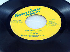 ED HOW - Chester Hall / I'd Like To Spend Some Time Alone With You - 1974 G+