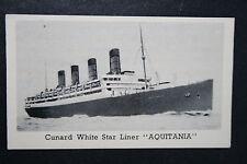 RMS AQUITANIA    Cunard White Star Line  1930's Vintage Photo Card