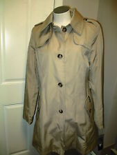 DKNY Water Repellent Trench Jacket Camel Size M - NWT MISSING BELT