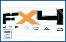 2011 Ford F150 FX4 Off Road Decals FO offroad Stickers Truck bed side 4x4 Orange