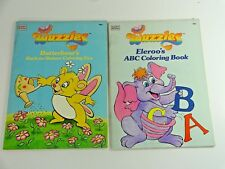 VTG 1985 Wuzzles Butterbear's Back to Nature + Eleroo's ABC Coloring Book UNUSED