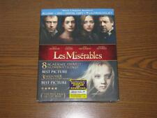 Les Misérables (Blu-ray/DVD, 2013, 2-Disc Set, Digital Copy) with Slip Cover