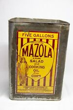 Vintage Mazola Salad Cooking Oil 5 Gallon Tin Metal Container Can