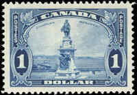 1935 Mint H Canada VF Scott #227 $1 King George V Pictorial Stamp