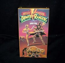 MIGHTY MORPHIN POWER RANGERS HIGH FIVE FULL COLOR VHS KIDS MOVIE TAPE 25 MINS