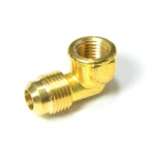 3/8 Male Flare Sae 45 to 1/4 Female Npt L Elbow Fitting Natural Gas Propane Fuel