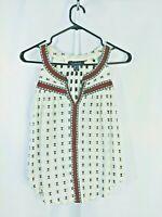 Womens Atmosphere Top blouse sleeveless size 8 100% cotton ladies top
