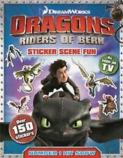 NEW  DRAGONS STICKER SCENE FUN book riders of Berk HOW TO TRAIN A DRAGON &