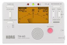 Korg Tm60Wh Tm-60 White - Combo Tuner/Metronome