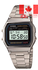Casio Men s A158W-1 Classic Digital Stainless Steel Bracelet Watch