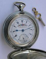 BILLODES/ZENITH KEY WIND POCKET WATCH SWISS 1860's-OTTOMAN EMPIRE/TURKISH MARKET