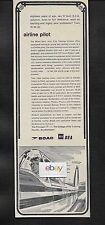 BOAC & BEA JOINT PILOT TRAINING SCHEME HAMBLE-OXFORD-PERTH COLLEGE 1967 AD