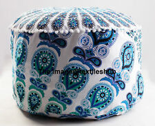 New Handmade Gypsy Bohemia Ottoman Mandala Indian Round Ottoman Seat Pouf Cover