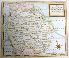 HEREFORDSHIRE HEREFORD   BY THOMAS OSBORNE  GENUINE ANTIQUE MAP  c1748