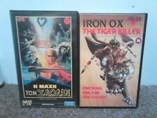 2 KUNG FU MARTIAL ARTS VHS TAPES IRON OX  FORCE OF SHAOLIN RARE