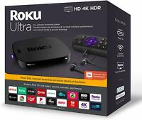 Roku Ultra Streaming Media Player (2019) with JBL Headphones | Brand New|