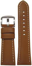 26mm Panatime Tan Soft Calf Leather Watch Band w WS For Panerai Radiomir 26/22