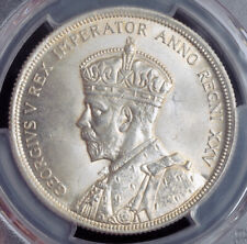 """1935, Canada, George V. Silver """"Jubilee / Voyageur"""" Dollar Coin. PCGS MS-64!"""