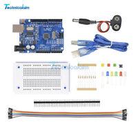 UNO R3 Starter Kit Compatible Microcontroller ATMEGA328P Breadboard For Arduino