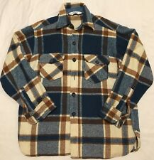 Vtg Woolrich Wool Coat Plaid Field Jacket Shirt Mens Large Camp Work  Hunt 60's