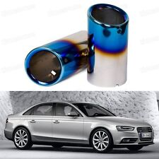 Titanium Blue Tailpipe Exhaust Muffler Tail Pipe Tip for Audi A4 B8 2009-2014