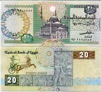 EGYPT 20 POUNDS P 52 SIGN 16 UNC