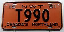 """Nummernschild Canada Northwest Territories """"CANADA´s Northland"""" von 1961 11510."""