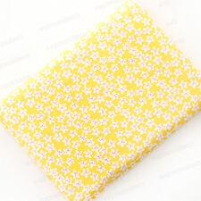 Tissu Printanier Jaune Floral 150 x 50cm Coton Lin Couture Patchwork Vêtement