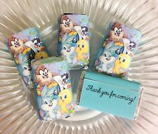 50 BABY LOONEY TUNES MINI CANDY BAR WRAPPERS GIFTS FAVORS