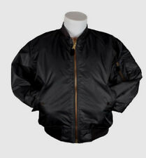 Bomber Jacket BLACK Fox Outdoor Nylon Military Men's Flight MA-1 Sz SMALL NEW