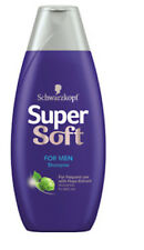 ** 2 X SCHWARZKOPF SUPERSOFT FOR MEN SHAMPOO 400ml EACH NORMAL HAIR HOPS-EXTRACT