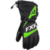 FXR Fuel Snowmobile Glove Black Lime