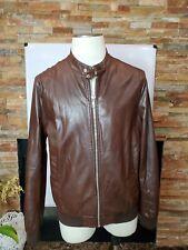 Men's Zara Brown Leather Jacket Size XL Euro 44 Faux