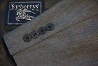 Burberry Gray Microplaid 100% Wool 2 Piece Suit Jacket Pants Sz 41R