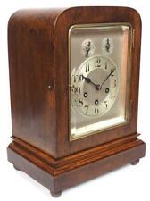 Oak Cased Junghans Musical Bracket Clock Art Deco Westminster Chime Mantel Clock