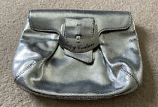 Juicy Couture Silver Leather Clutch Bag